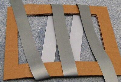 Silver Retro Reflective Tape Iron On Trim3x1