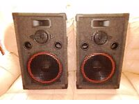 "Pair of Tornado 12"" Inch 3-Way Passive Speakers Karaoke DJ Disco PA Garden Party"
