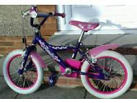 "Annalis girls bike in very good condition.18"" wheels suit 5yr old upwards."