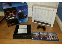 Ps4 boxed mint condition with all leads controller and 3 games