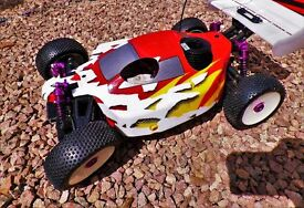 1/8th Scale Shumacher radio control buggy for sale