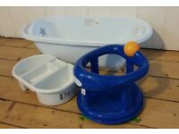 Baby bath, top and tail bowl and seat
