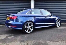 2016 AUDI A3 S LINE 2.0 TDI 150 SALOON SCUBA BLUE NOT A1 A4 A5 A6 BMW 320D GOLF M SPORT CLA C220