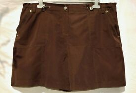 "BHS UK 20 Ladies or Men's Brown Semi Elasticated Casual Summer Shorts W38-44"""