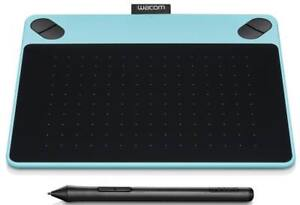 NEW Wacom Intuos Art Pen & Touch Tablet (Small - Mint Blue) - USB Interface - CTH490, CTH-490