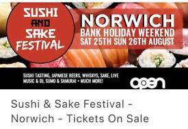 *REDUCED* x2 Sushi and Sake Festival Tickets!!