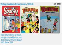 80's Hardback Comic TV Sports Annuals (various) £15 each