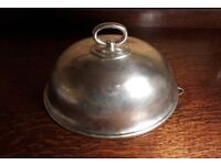 Vintage Silver Meat Dome