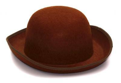 Herren Erwachsene Braun Steampunk Industriell Filz Derby Kostüm Hut