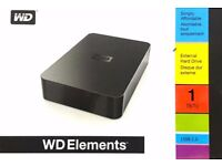 WD Elements External Hard Drive 1TB