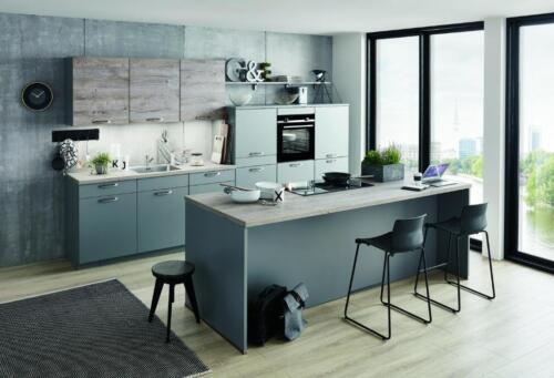 Moderne Kuche Grau Neu Mit Siemens Studioline Geraten In