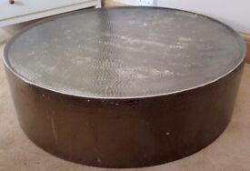 Rose Gold Hammered Aluminium Coffee Table (Habitat)