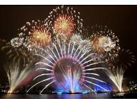 London New Years even firework tickets