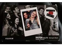 (URGENT) FUJIFILM INSTAXmini70 Instant Camera Midnight Black (includes 10 shots) NEW