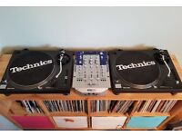 Technics SL-1210 Mk2 Direct Drive Turntables Pair DJ Decks (x2)