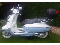 PEUGEOT DJANGO EVASION 125cc BLUE & WHITE IMMACULATE CONDITION