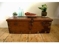 Antique chest trunk imported from India