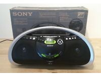 Sony Stereo CD Radio boombox personal audio system ZS-YN7L Boxed