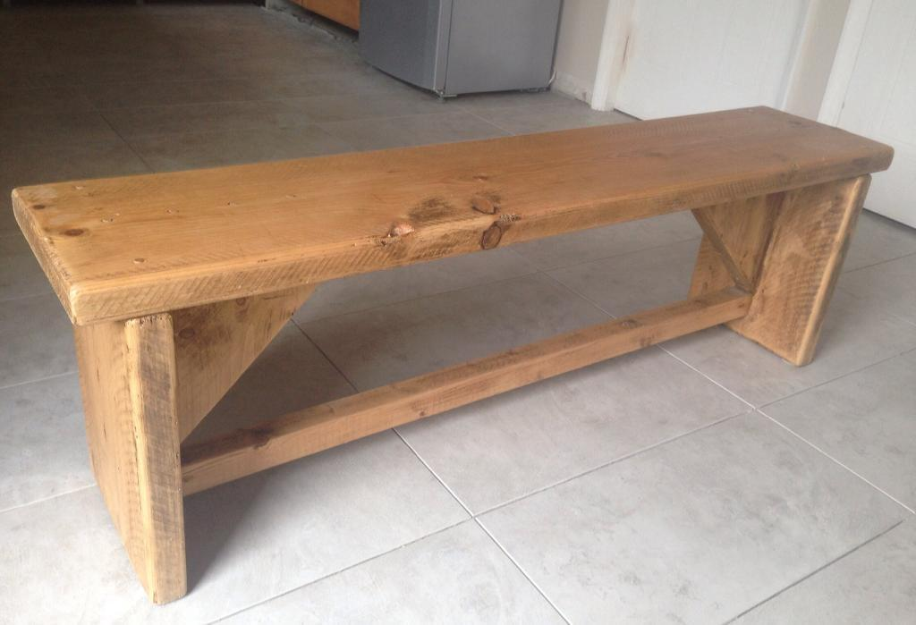 Rustic farmhouse chunky heavy dining table bench United  : 86 from www.gumtree.com size 1024 x 699 jpeg 55kB