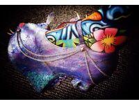 Gothic Glitter Skull Shoes