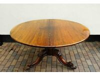 Victorian Tilt Top Dining Table