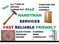 AtoZ HANDYMAN SERVICES < NO CALL OUT CHARGE! > < EXPERIENCED HANDYMAN! >
