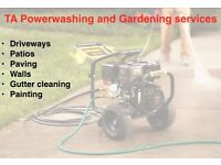 Power washing, power hosing, patio cleaning, gutter cleaning and garden services!