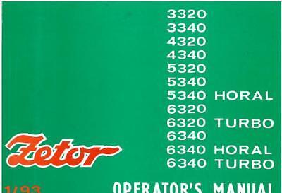 Używany, Zetor Tractor 3320 3340 4320 4340 5320 5340 6320 6340 Horal & Turbo Manual na sprzedaż  Wysyłka do Poland