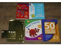4 School Workbooks