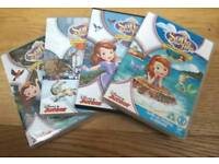 Disney Sofia the First DVDs and CD.