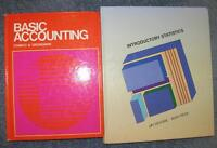 Statistics and Accounting Books - Like New!