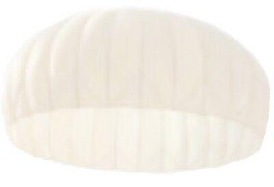 Fallschirm Kappe mit Packtasche Seide weiss gebraucht Party Deko Sonnensegel