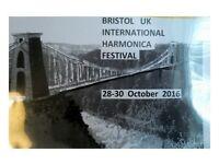 Bristol UK International Harmonica Festival- Fri 28 +Sat 29 +Sun 30 October 2016