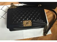 Chanel leather LaBoy handbag boxed