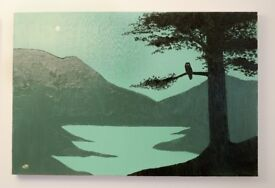 """""""The Loch & The Owl"""" Original Oil on Canvas."""