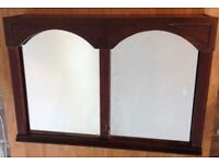 Mahogany quality bathroom cabinet. Double arched. Sliding doors. Handmade Victorian style. Offers.