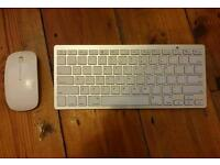 Wireless keyboard and scroll optical mouse