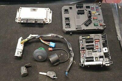 CITROEN PICASSO 1.6 petrol ECU IGNITION LOOM BARREL KEY DOOR LOCK SET 9648483480