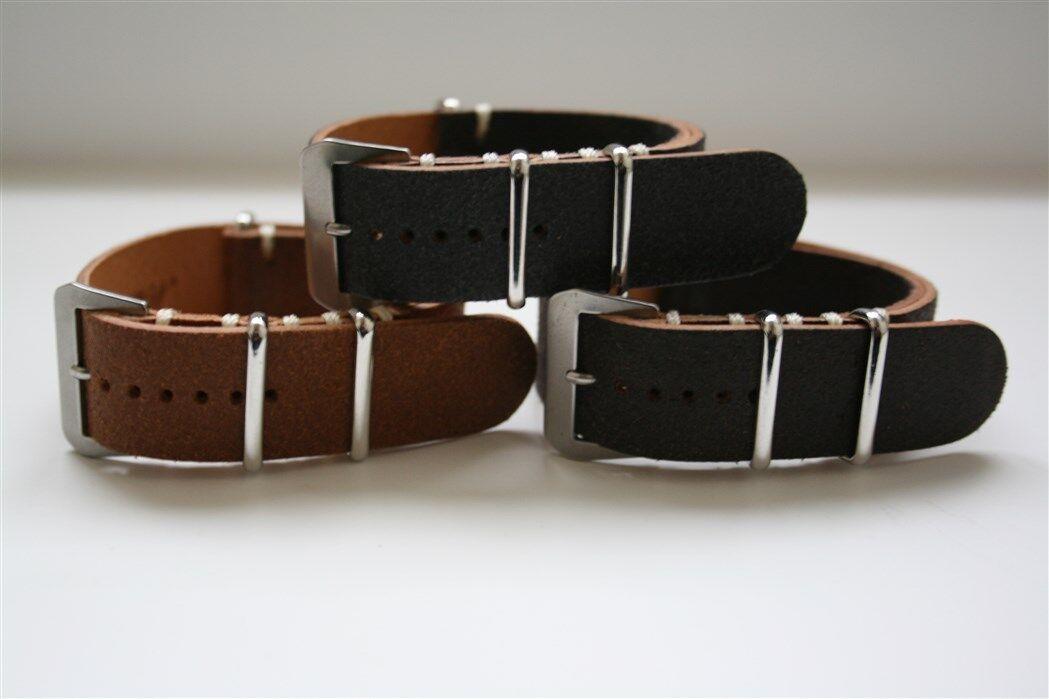 Cinturini Artigianali NATO Vitello Invecchiato 20mm! Vintage Leather NATO Strap!