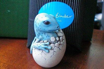 Ex Harmony Kingdom Artist Adam Binder Editions Blue Hatching Dragon UK Made