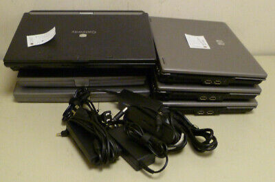 Lot of 7 HP Dell and Gateway Laptop Computers Latitude D510 E6400 D600 6530b  ()