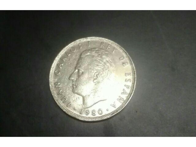 JUAN CARLOS I REY DE ESPANYA 1975 AND 1980  RARE COINS.BUNDLE FOR ONLY $300