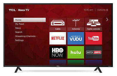 "TCL 55"" 4K Ultra HD HDR 2160P Roku Smart LED TV - 55S401"