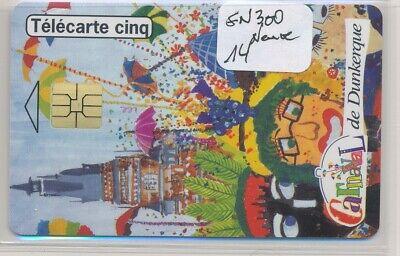 Télécarte 5 Unités GN300 carnaval neuve ref T114