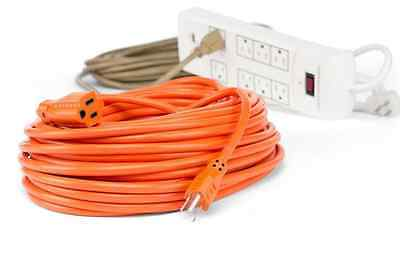 100 ft Heavy Duty Extension Cord Indoor Outdoor Electrical Power Cable 16 Gauge