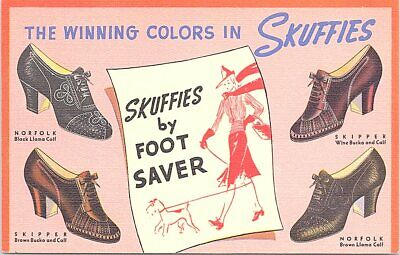 Linen Advertising Skuffies by Foot Saver Women's Shoes 1940s