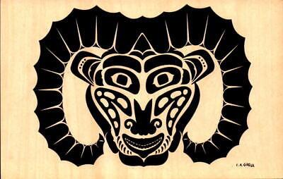 Postcard Artist Signed C.B. Greul  Unused Ram Pacific Northwest Coast