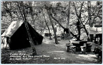 Pfeiffer Big Sur State Park (RPPC  PFEIFFER BIG SUR State Park, California  CA  CAMP SITE Laws Photo Postcard)