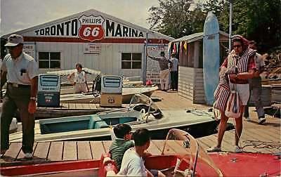 Postcard Marina, Boats & Phillips 66 Gas Station, Toronto, Kansas - Earl Rich