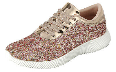 Women Fashion Ultra Light Weight Glitter Sneakers Shoes High Sequin Forever Link Light Fashion Link